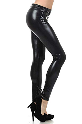 Jaanshi Women's Faux Leather Pants Leather Leggings Tights